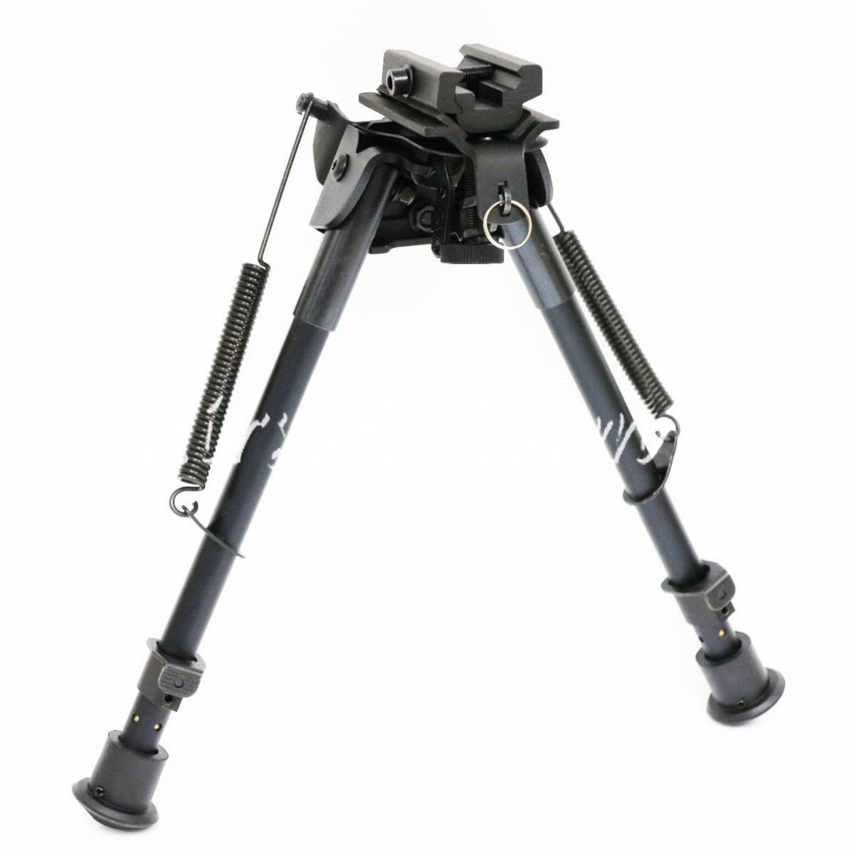 "Shooting Gear Aircraft Aluminum 9-15"" Spring Rifle Shooter Bipod with 20mm RIS Adaptor"