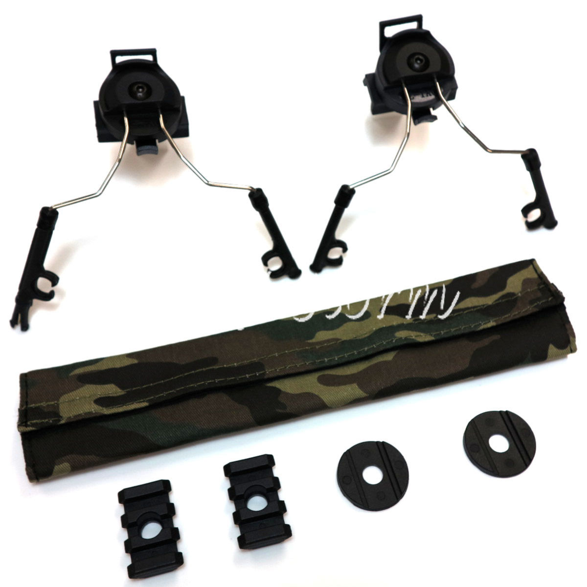 Airsoft Gear SWAT Z-Tactical Helmet Rail Adapter Set for Comtac I/II Headset Black