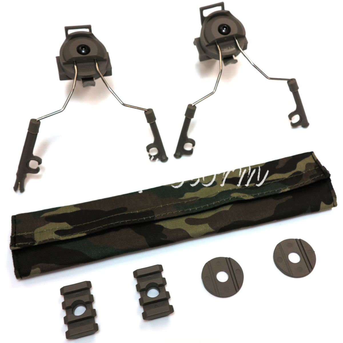 Airsoft Gear SWAT Z-Tactical Helmet Rail Adapter Set for Comtac I/II Headset ACU Foliage Green
