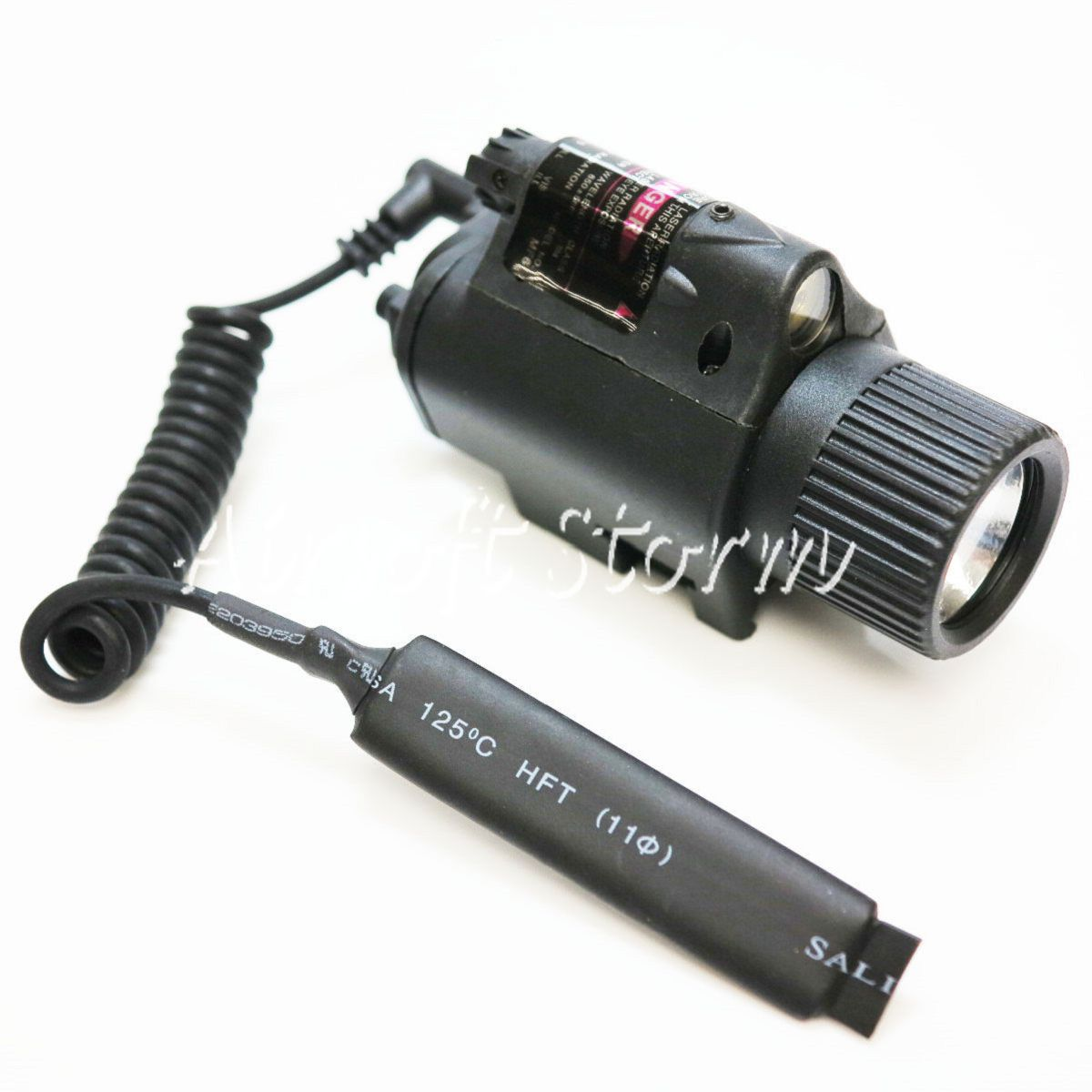 AEG Shooting Gear 2in1 180Lm LED Tactical Flashlight & Red Laser - Click Image to Close