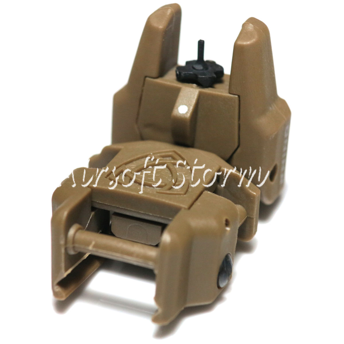 Tactical Gear APS Rhino Auxiliary Flip Up Front Sight Brown