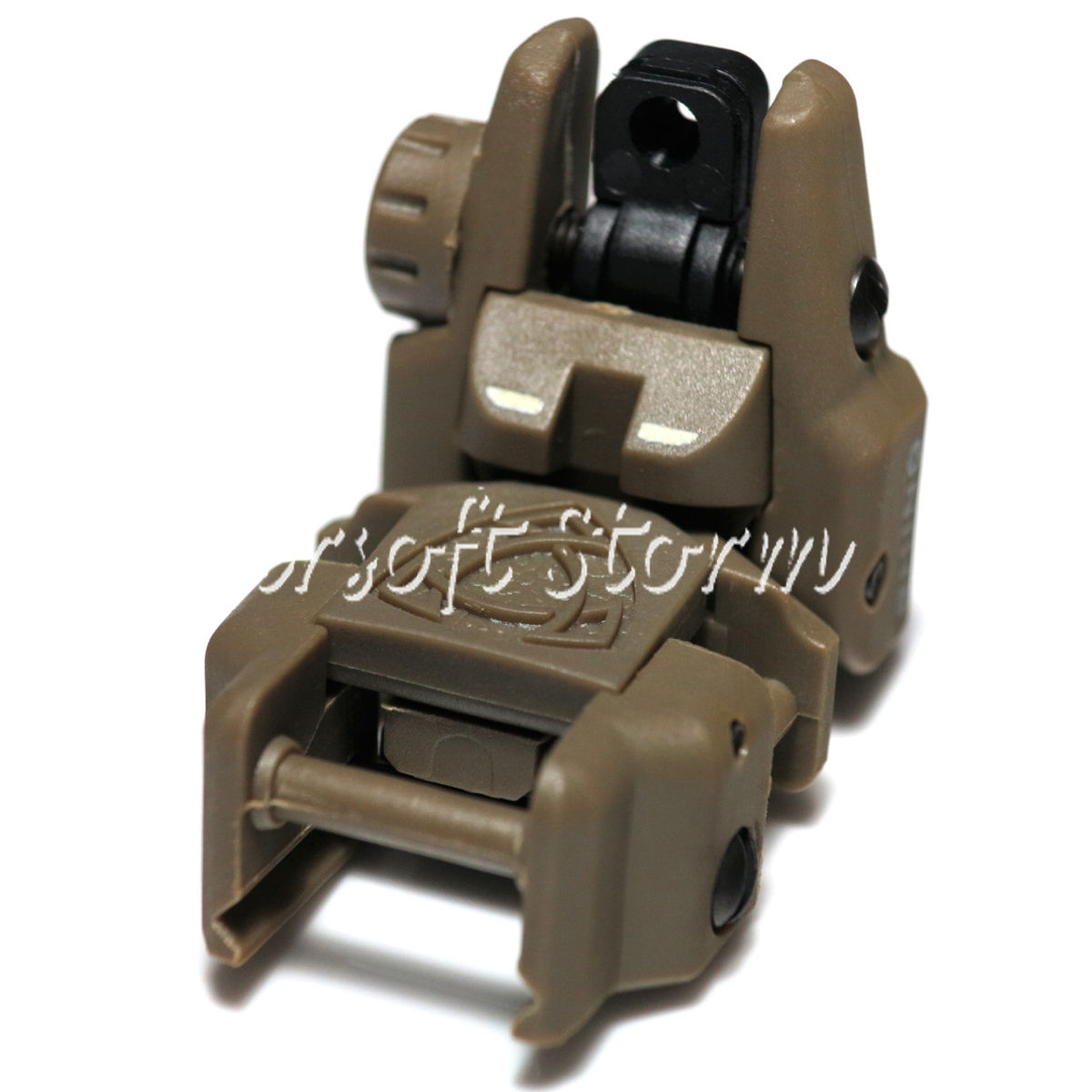 Tactical Gear APS Rhino Auxiliary Flip Up Rear Sight Brown