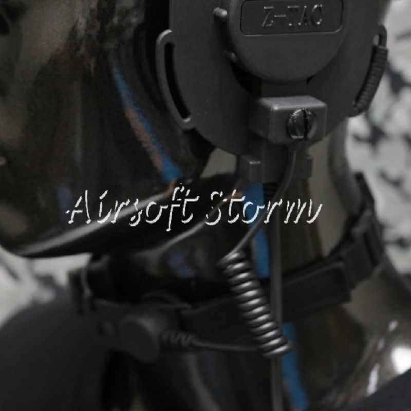 Airsoft Gear SWAT Z Tactical Throat Mic for Bowman EVO III Headset Black
