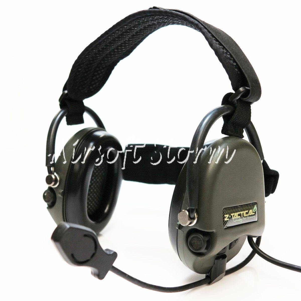Airsoft Gear SWAT Z Tactical TCI Liberator II Neckband Headset Olive Drab OD/Black