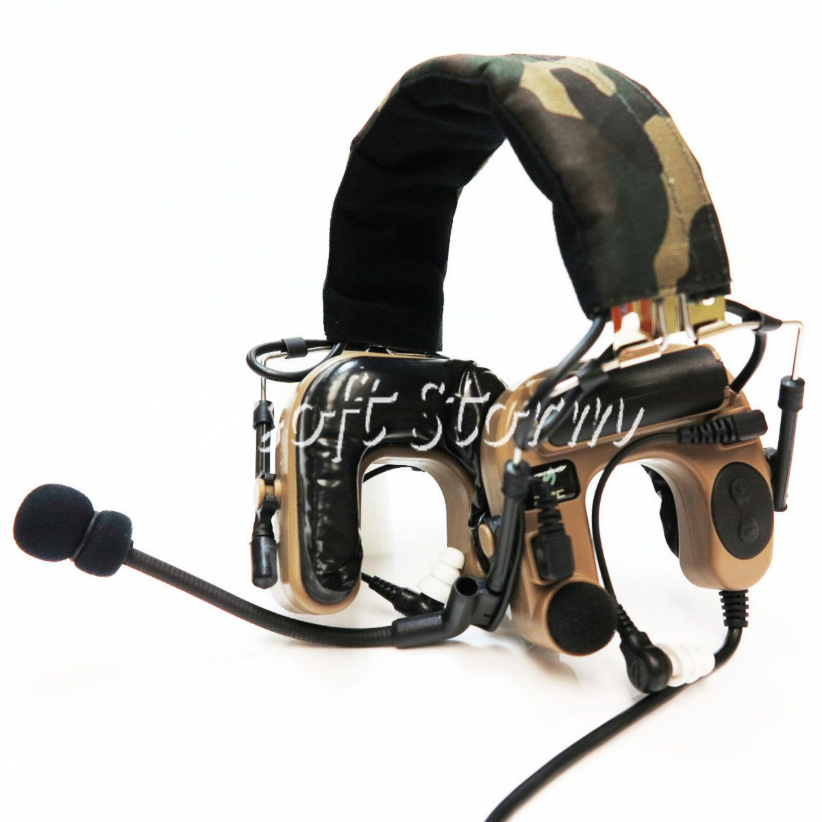 Airsoft Gear SWAT Z Tactical Comtac IV Style Tactical Headset Dark Earth/Woodland Camo