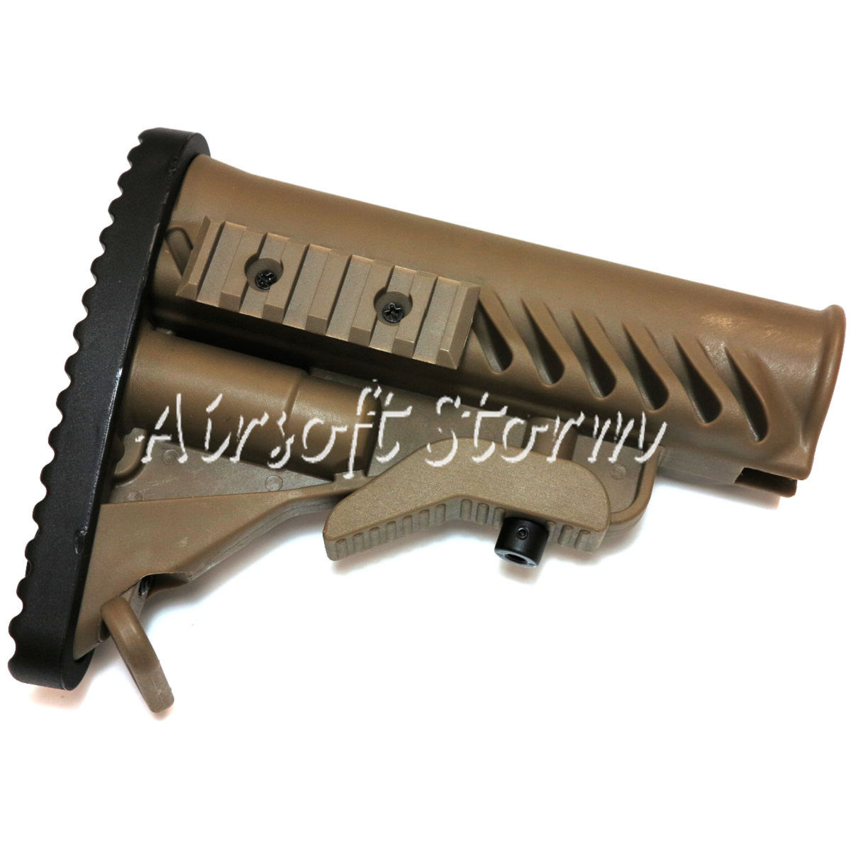Airsoft Tactical Gear APS Battle Tele Style Stock for M4/M16 AEG Tan