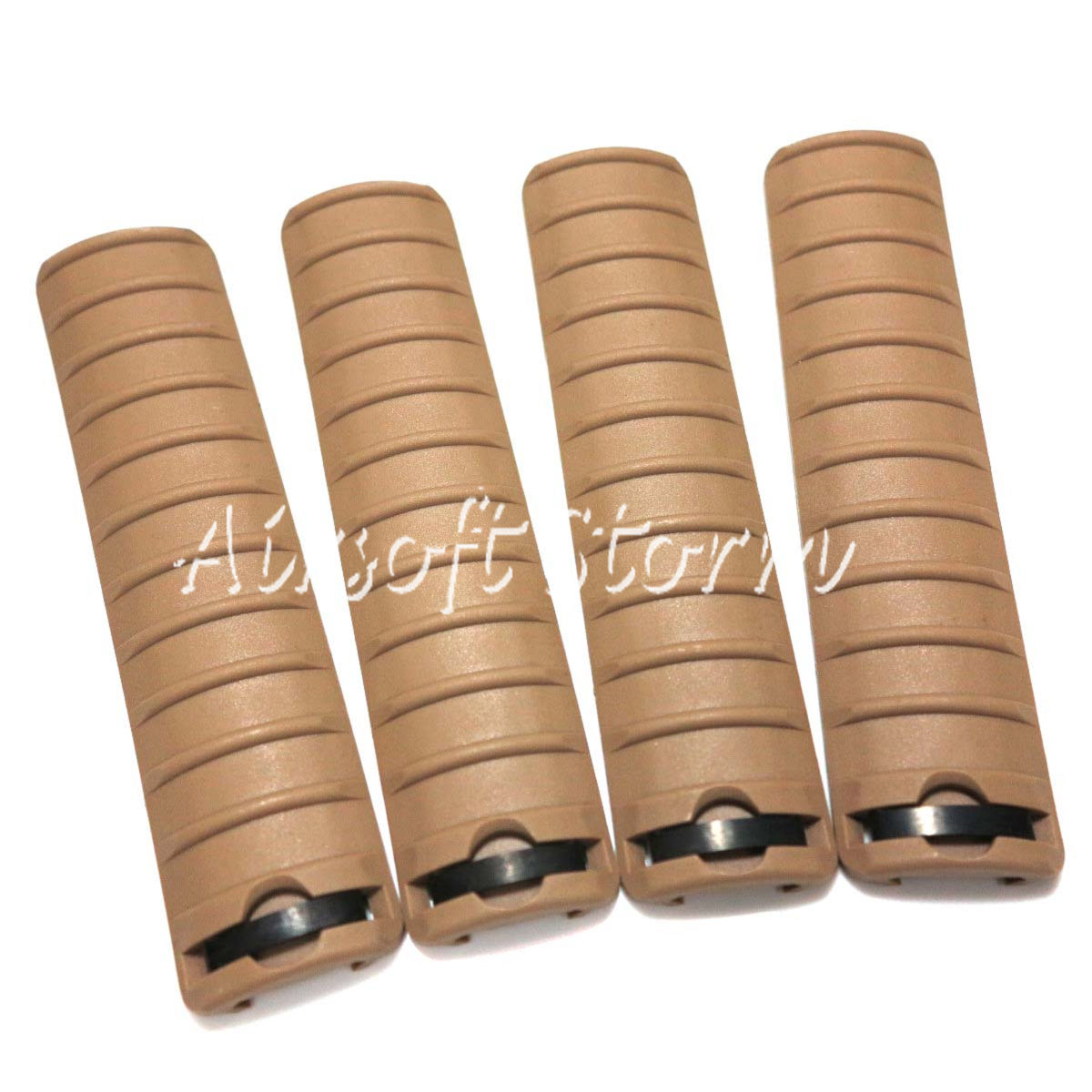 Shooting Tactical Gear 4pcs Set Energy Knight's Type RIS RAS Rail Cover Panel Desert Tan