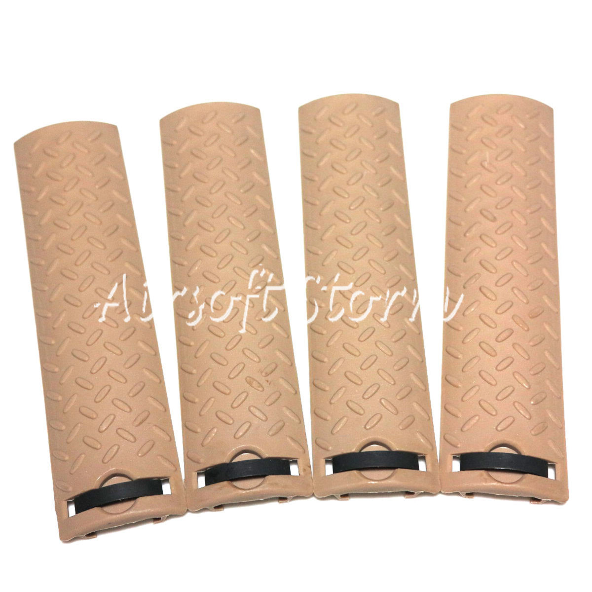 Shooting Tactical Gear 4pcs Set Energy Skidproof Texture Type Rail Cover Panel Desert Tan