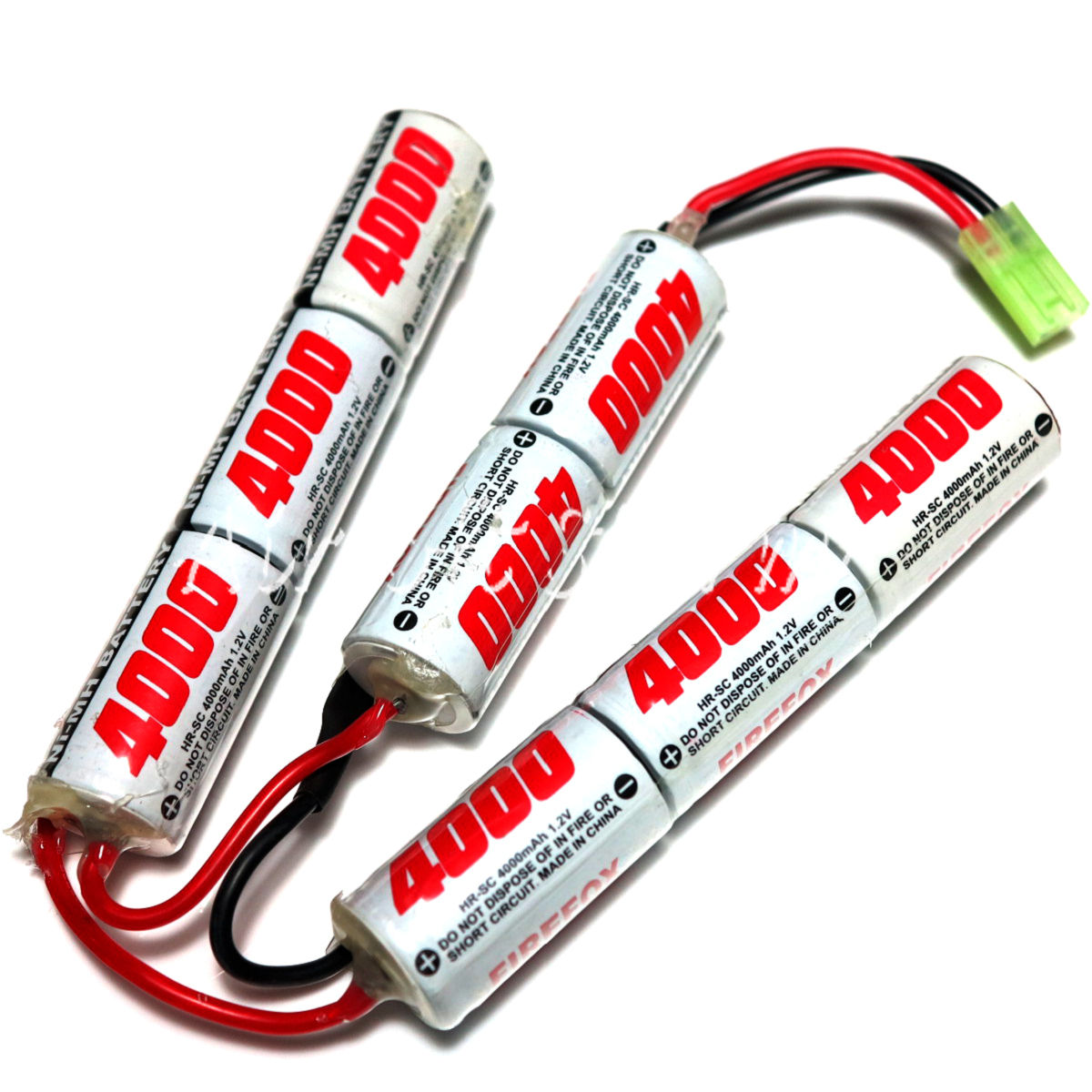 Firefox 9.6V 4000mAh Ni-MH Airsoft Crane Stock Battery