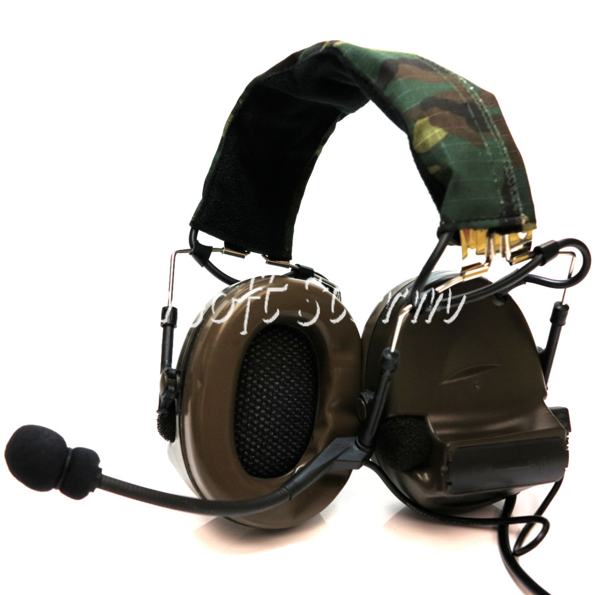 Airsoft Gear SWAT Element Comtac II Style Tactical Headset Olive Drab Woodland Camo