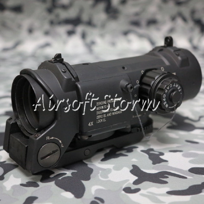 SWAT Gear Tactical 4x Elcan SpecterDR Type Red Green Dot Sight Scope Black