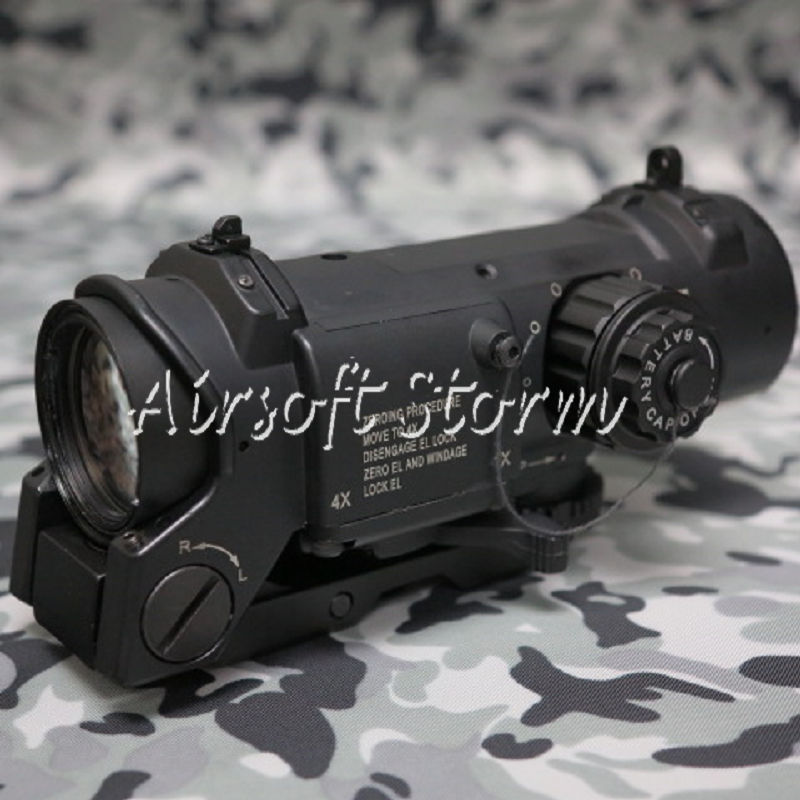 SWAT Gear Tactical 1-4x Red Green Dot Sight Scope Black