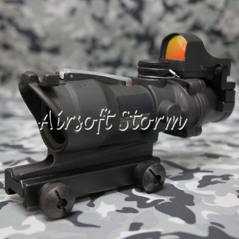 SWAT Gear Tactical 4x32 Cross Sight Scope with OP Type Red Dot Sight Black