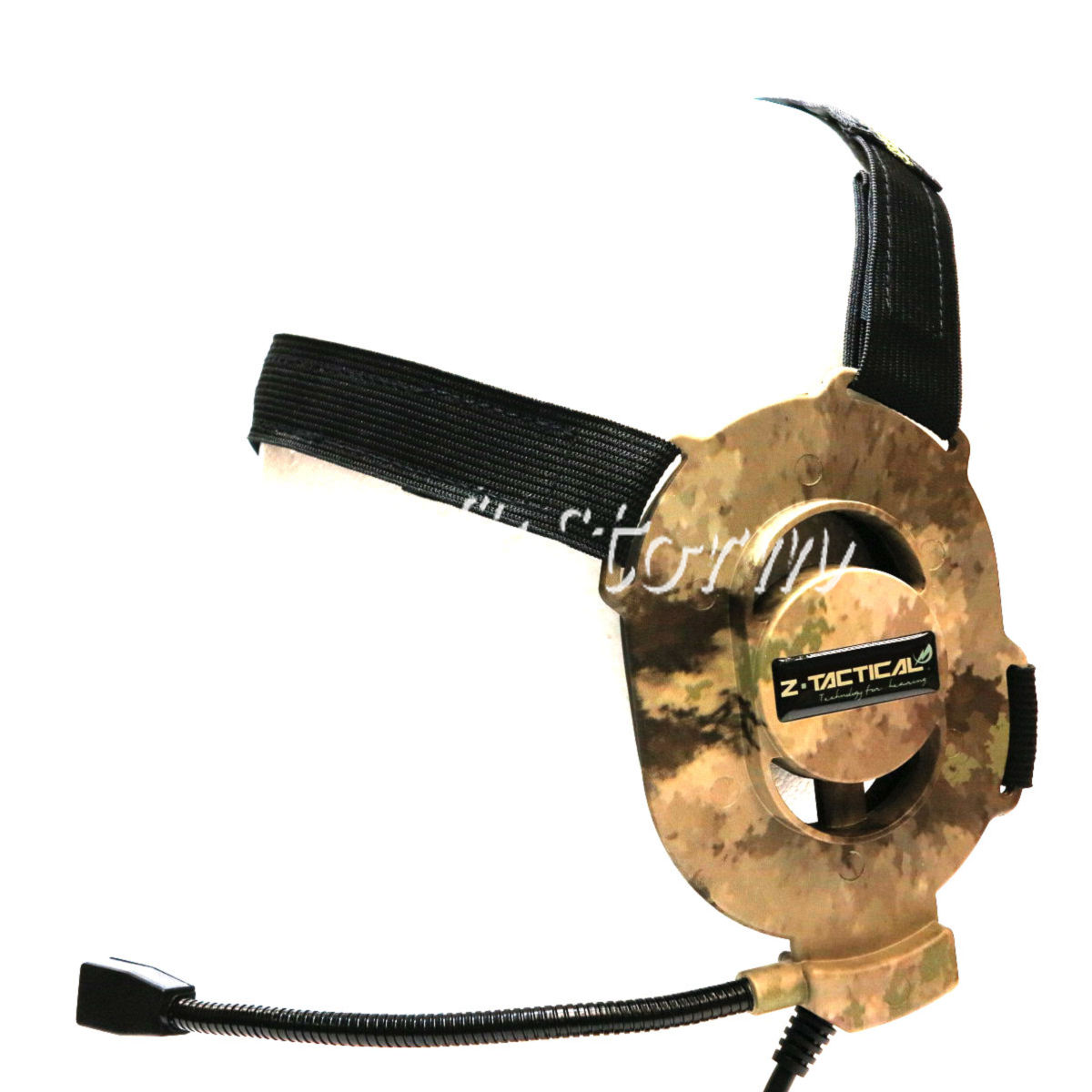 Airsoft Gear SWAT Element ELITE II Style Tactical Headset A-TACS Camo
