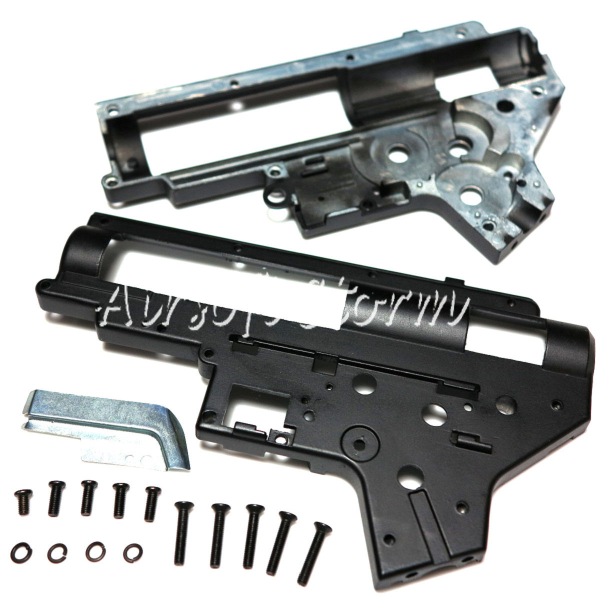 Shooting Gear D-Boys 7mm Bearing AEG M4 Reinforced Gearbox Shell Ver.2 Black