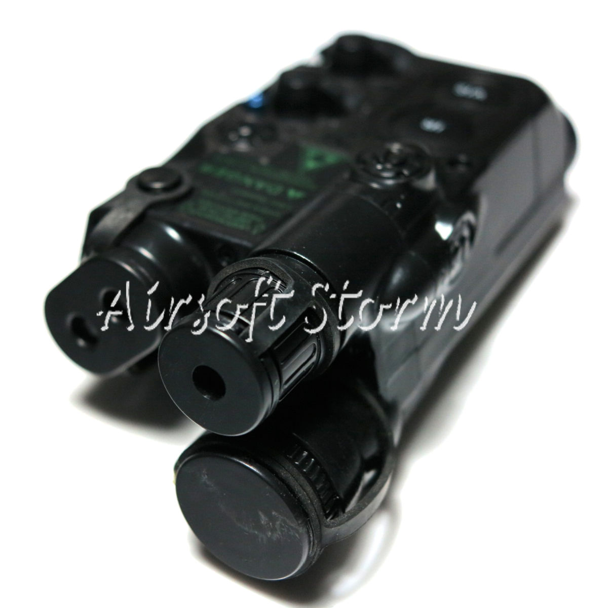 Airsoft AEG Gear Army Force AN/PEQ-16 Style Battery Case Box Black w/RIS Mount