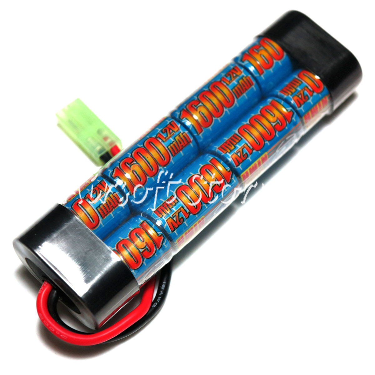 G&P 9.6V 1600mAh Ni-MH Mini Type Battery GP912B