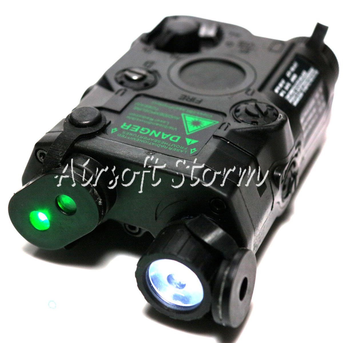 Tactical Gear FMA AN/PEQ-15 Green Dot Laser & LED Flashlight Black
