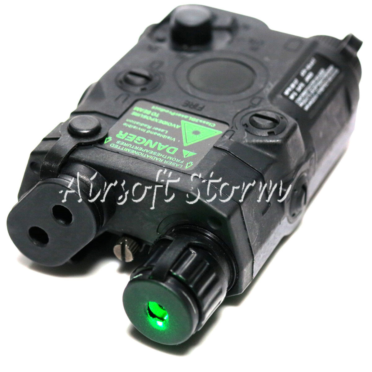 Tactical Gear FMA AN/PEQ 15 Style Box Black with Green Laser