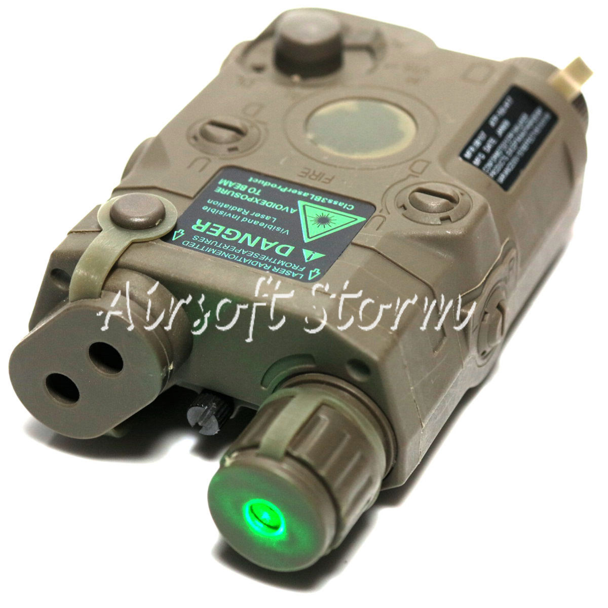 Tactical Gear FMA AN/PEQ 15 Style Box ACU Foliage Green FG with Green Laser
