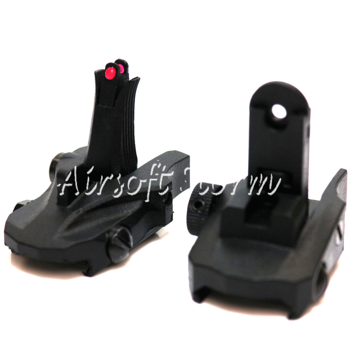 Tactical Gear APS Athena Back Up Rear & Front Sight Set Black