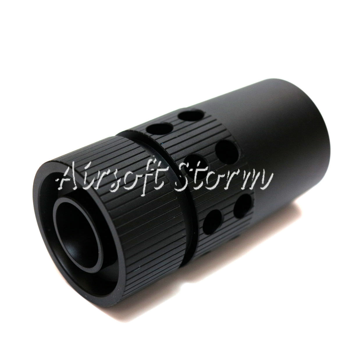 Shooting Gear Army Force Large CQB Type Steel Flash Hider 14mm CCW Black