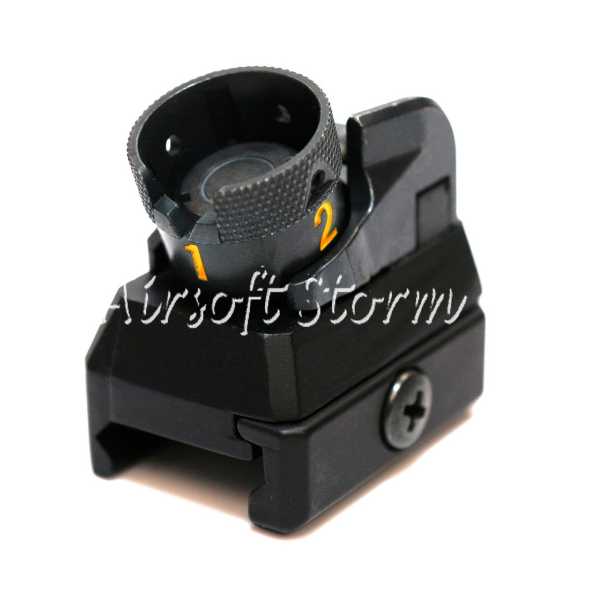 Airsoft AEG Gear D-Boys Metal HK416 Fixed Combat Rear Sight Black