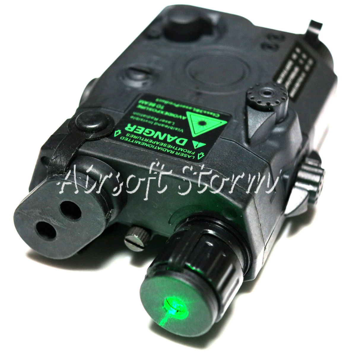 Airsoft Tactical Gear FMA AN/PEQ 15 LA Style Box Black with Green Laser