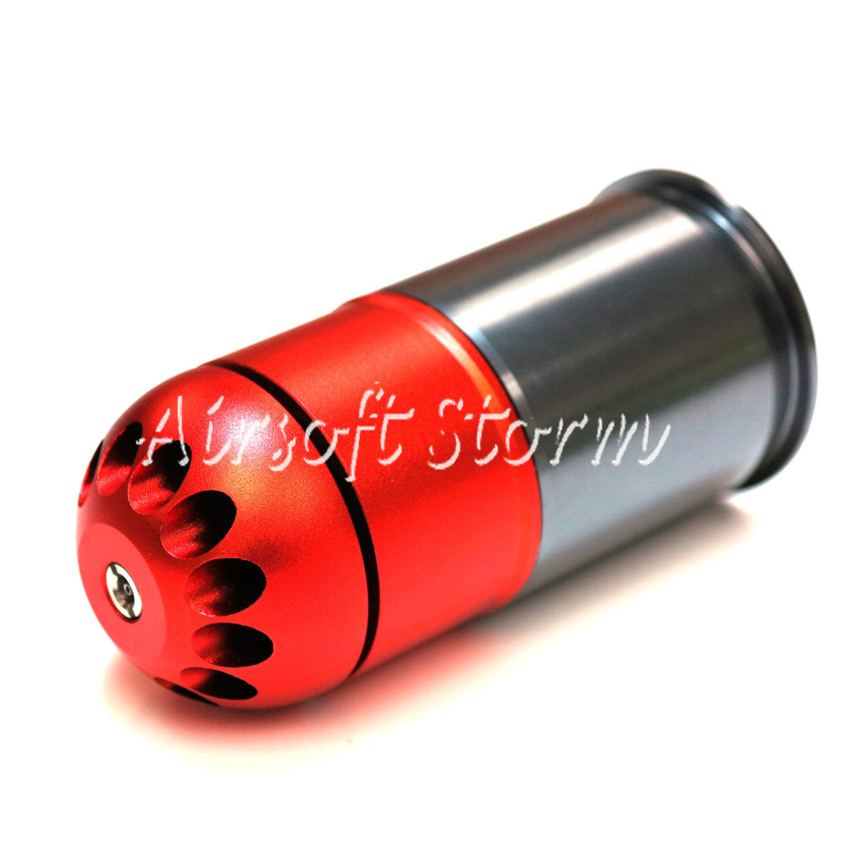 Shooting Gear SHS 84rd 40mm Grenade Gas Cartridge Shell Red/Grey
