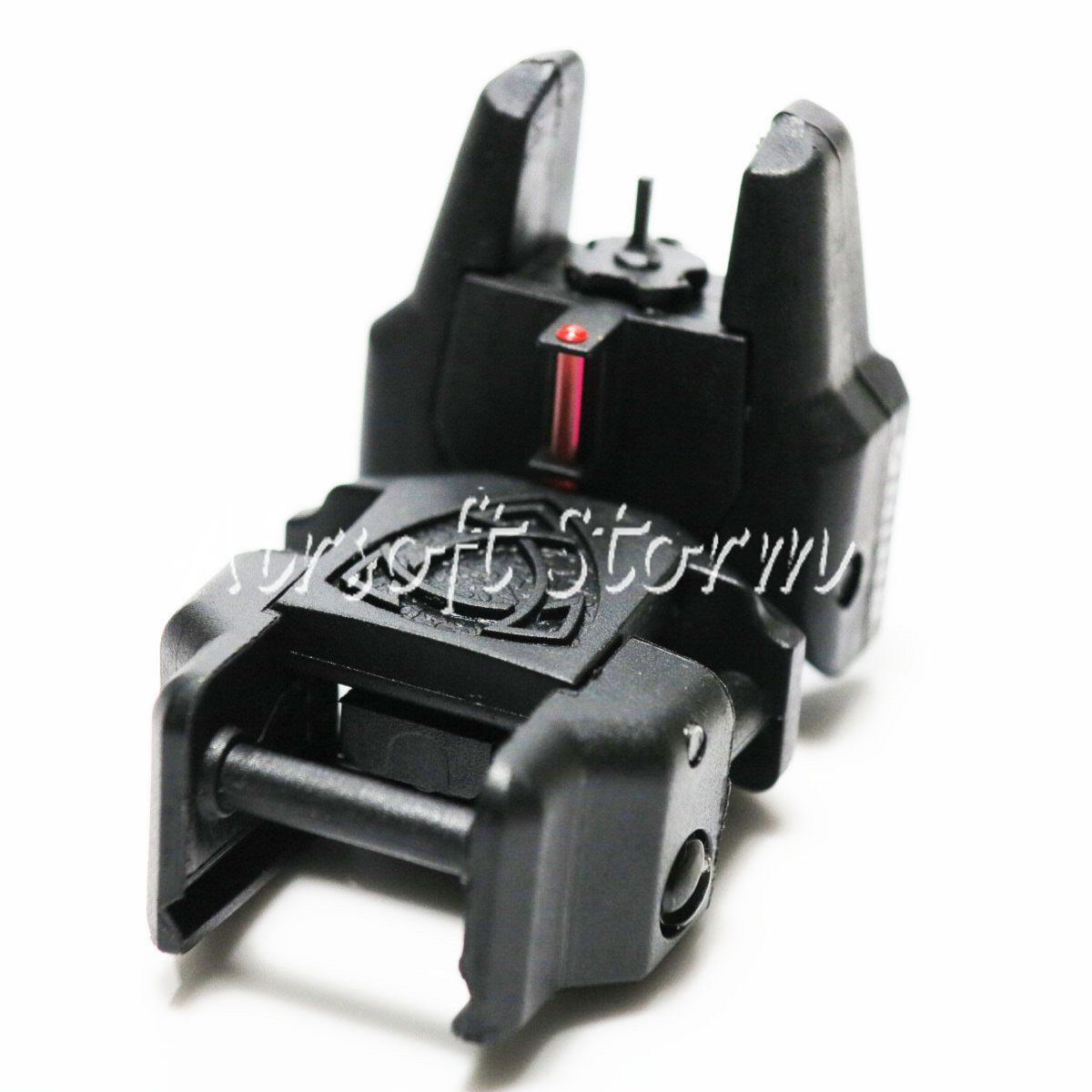 Airsoft AEG Gear APS Rhino Front Sight with Fiber Optic Black/Red