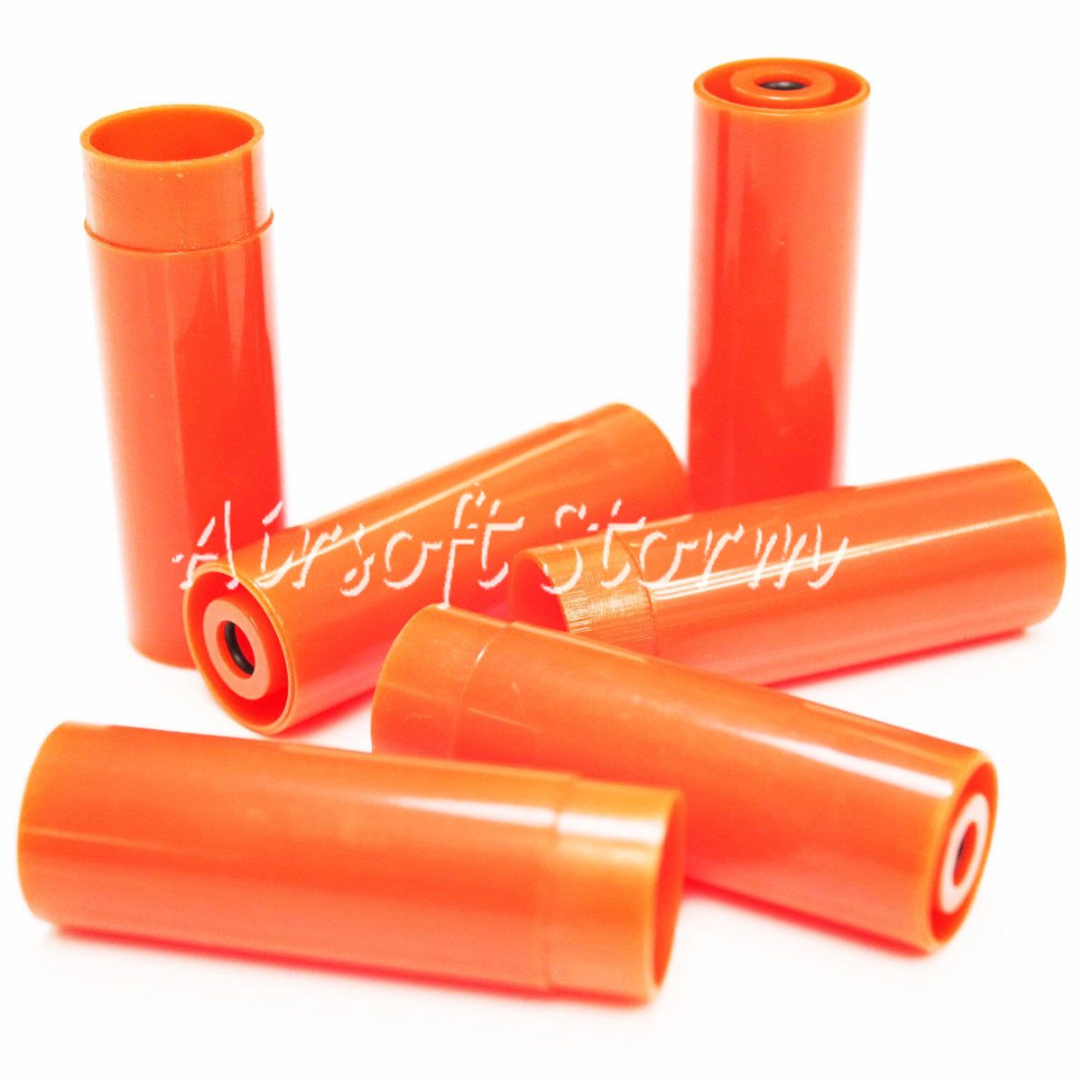 Shooting Gear PPS 6pcs Plastic Shell Case for M870 Pump Action Shotgun Orange