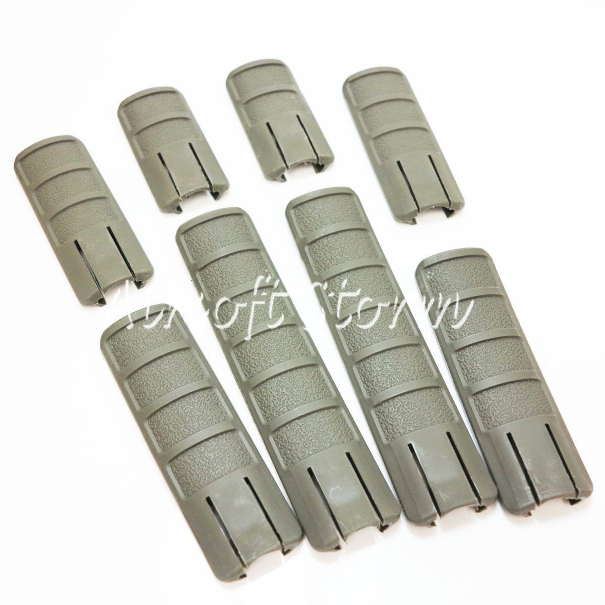 8pcs Set Airsoft Tactical Gear Energy TD Battle Grip Type Rail Cover Panel ACU Foliage Green FG