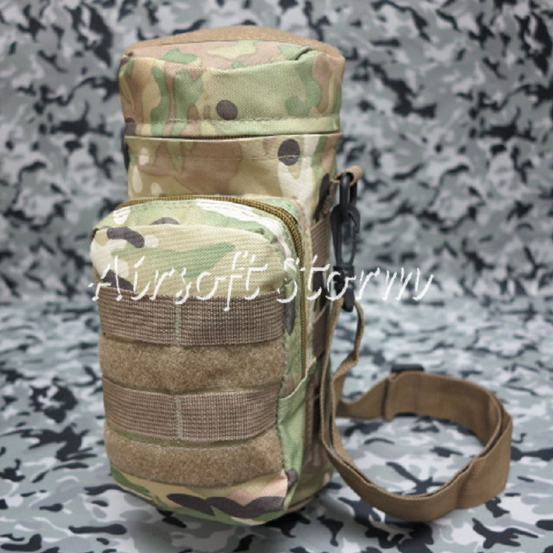 Airsoft SWAT Tactical Molle Water Bottle Utility Medic Pouch Multi Camo