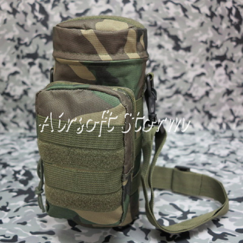 Airsoft SWAT Tactical Molle Water Bottle Utility Medic Pouch Woodland Camo