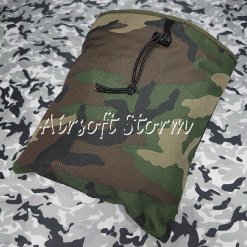 Airsoft Tactical Gear Molle Large Magazine Tool Drop Pouch Bag Woodland Camo