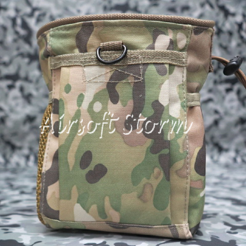 Airsoft Tactical Gear Molle Small Magazine Tool Drop Pouch Bag Multi Camo