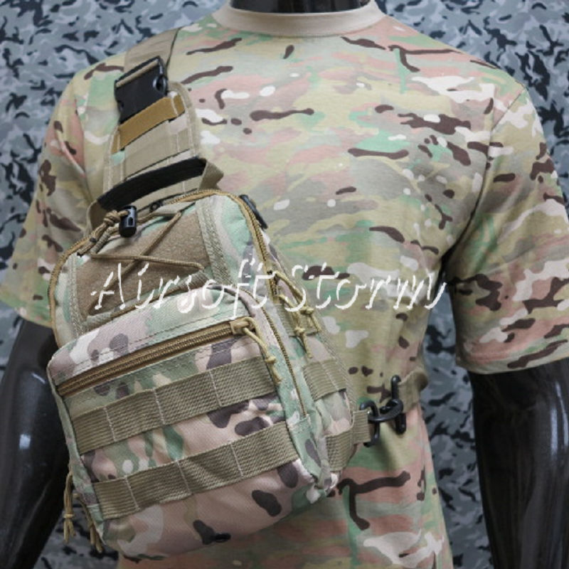 Airsoft Tactical Gear Utility Shoulder Sling Bag Size S Multi Camo
