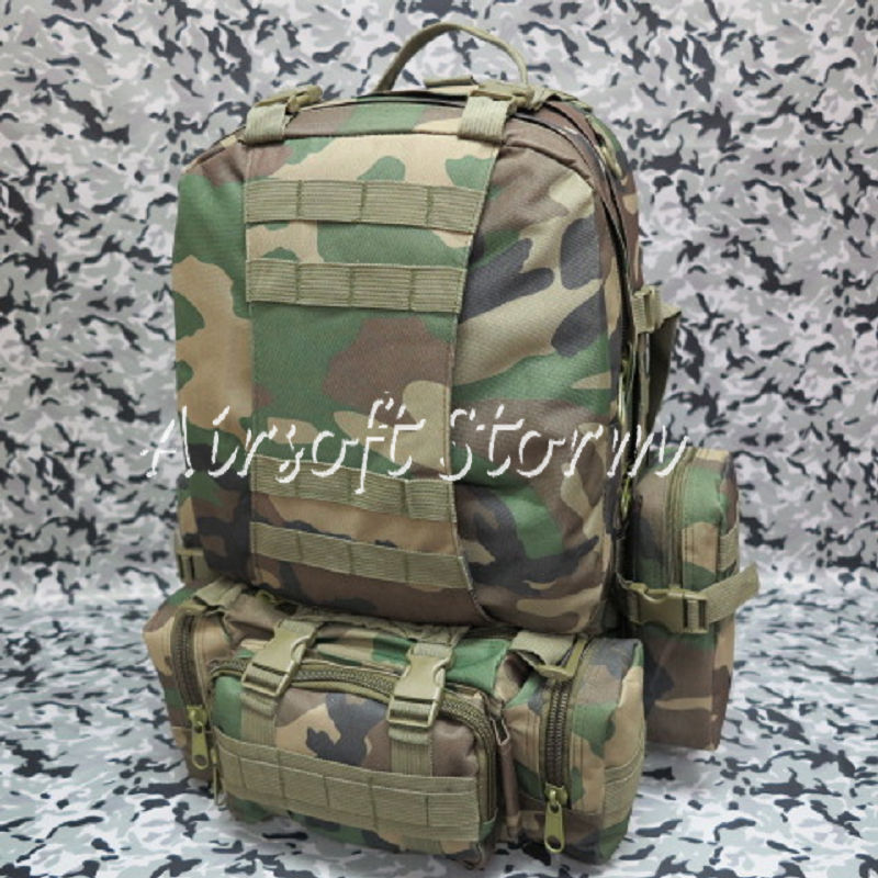 Airsoft SWAT CamelPack Tactical Molle Assault Backpack Bag Woodland Camo