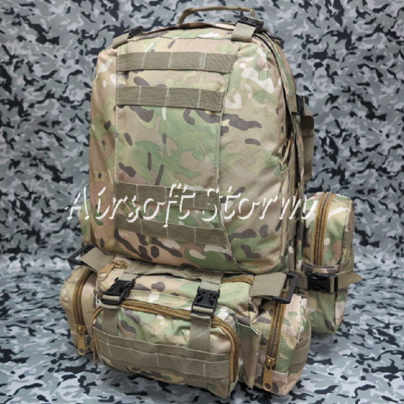 Airsoft SWAT CamelPack Tactical Molle Assault Backpack Bag Multi Camo