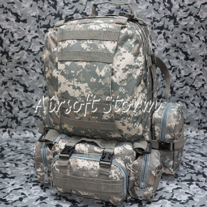 Airsoft SWAT CamelPack Tactical Molle Assault Backpack Bag ACU Digital Camo