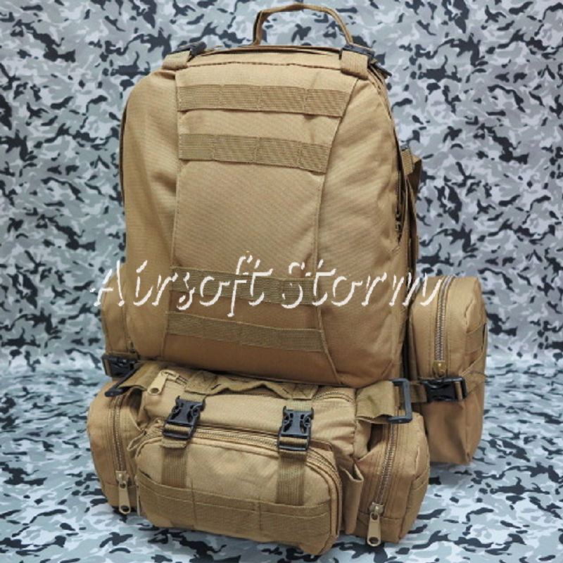 Airsoft SWAT CamelPack Tactical Molle Assault Backpack Bag Coyote Brown