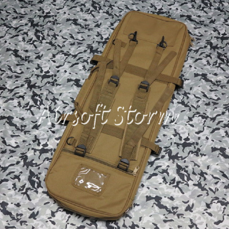"Airsoft SWAT Tactical Gear 33"" Dual Rifle Carrying Case Gun Bag Coyote Brown"