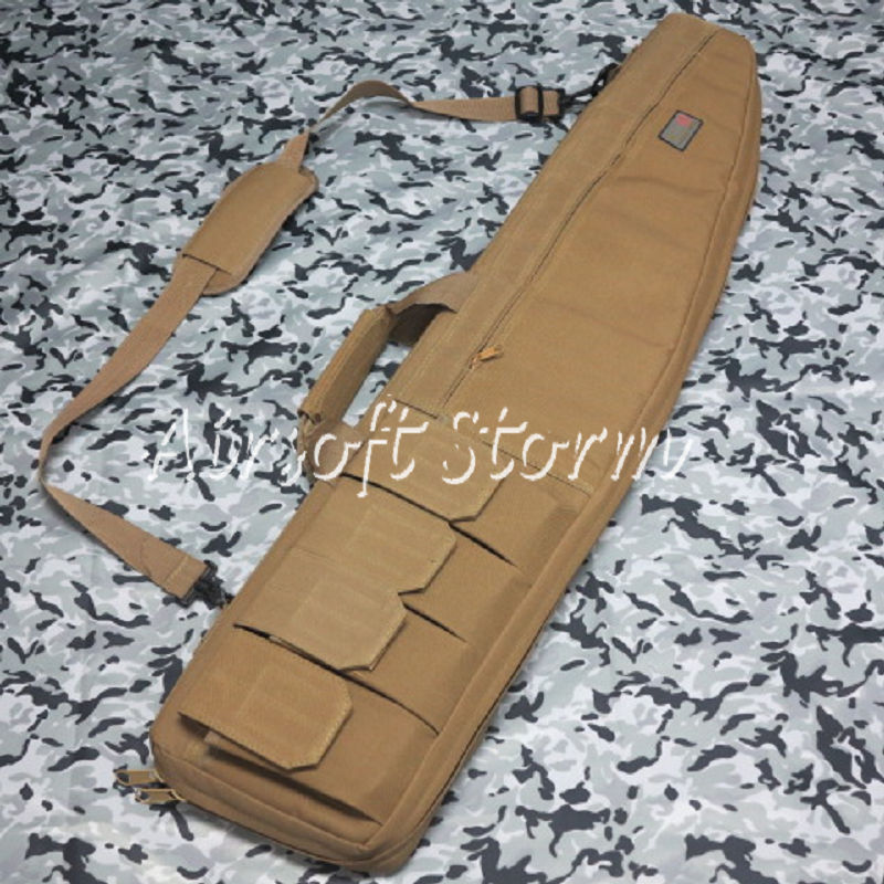 "Airsoft SWAT Tactical Gear 38"" Rifle Sniper Case Gun Bag Coyote Brown"