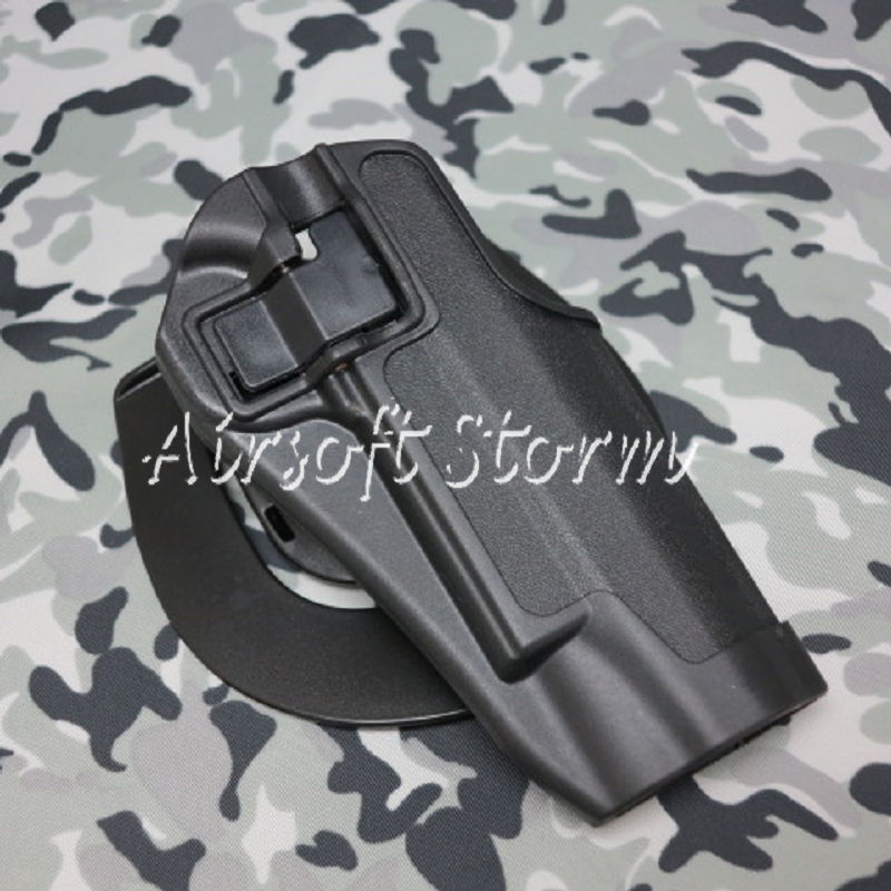 CQC Tactical Colt 1911 M1911 RH Pistol Paddle & Belt Holster Black
