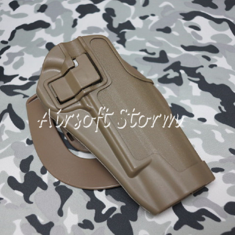 CQC Tactical Colt 1911 M1911 RH Pistol Paddle & Belt Holster Coyote Brown