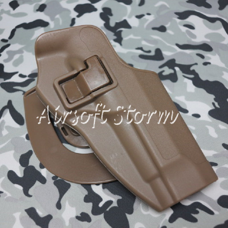 CQC Tactical Beretta 92/96 RH Pistol Paddle & Belt Holster Coyote Brown