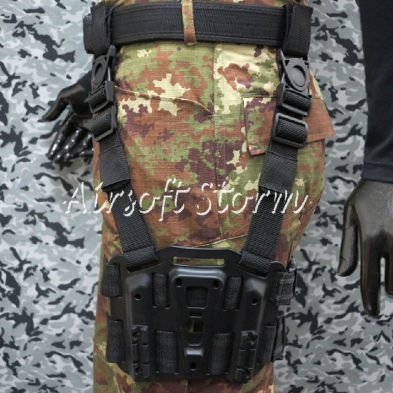 CQC SERPA Tactical Modular Drop Leg Holster Platform Panel Plate Black
