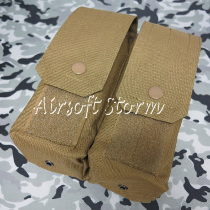 Airsoft SWAT Molle Assault Combat Double AK Magazine Pouch Coyote Brown