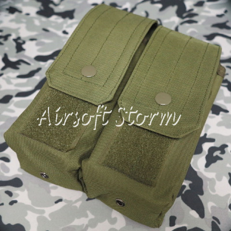 Airsoft SWAT Molle Assault Combat Double AK Magazine Pouch Olive Drab OD