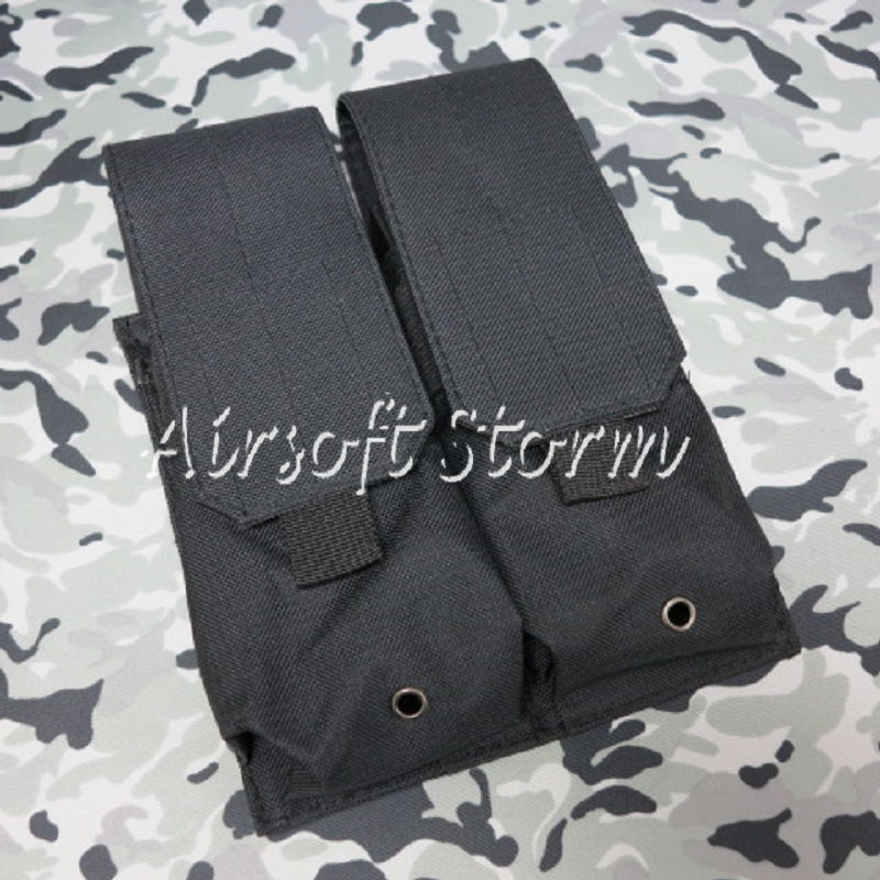 Airsoft SWAT Tactical Molle Assault Combat Double Magazine Pouch Black